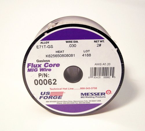 US Forge Welding Flux-Cored MIG Wire .030 2-Pound Spool #00062