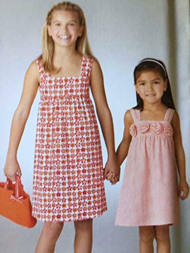 (Simplicity It's So Easy Pattern 1647 Girls Sleeveless Dress and Bag Sizes 3-4-5-6-7-8-10-12-14)