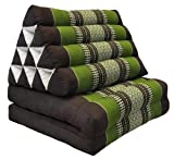 Tungyashop@thai Traditional Cushion Kapok Mattress (Green-Brown, 2 Fold)