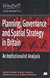 Planning, Governance and Spatial Strategy in Britain, Geoff Vigar and Simin Davoudi, 0312231253