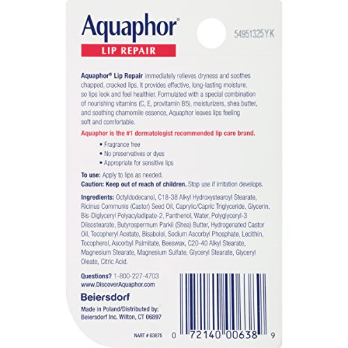 Large Product Image of Aquaphor Lip Repair .35 Fluid Ounce Carded Pack