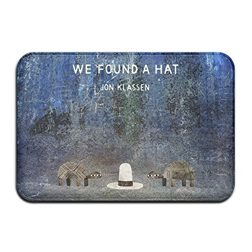 51DE1vIcdKL - MEGGE We Found A Hat Non Slip Door Mat