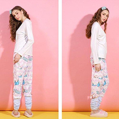 DMMSS Yukata dolce sveglio manica lunga Pajamas Set Ladies ' , figure color , m