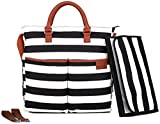 Diaper Bag by Hip Cub - Baby Changing Pad - Black/White Stripe W/Cute...
