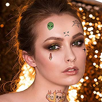 Lil Pump Face Tattoo Set Temporary Tattoos Amazoncom