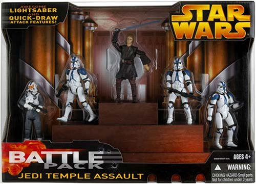 Assault Battle Pack (Star Wars: Episode 3 Battle Packs Jedi Temple Assault Action Figure Multi-Pack)