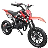 Superrio 49CC 2-Stroke Gas Power Mini Dirt Bike Dirt Off Road Motorcycle (RED)