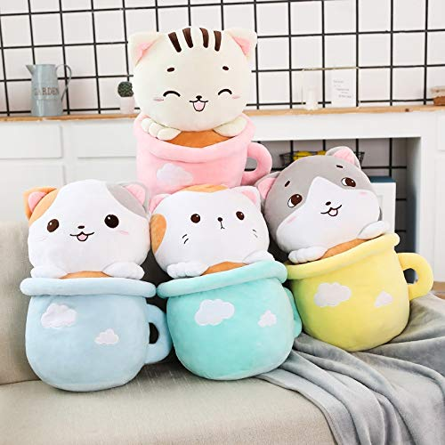 (GOONEE Plush Animal - 2 in 1 Blanket in A Plush Toy Cat Pillow Kawaii Soft Animal Cat Toy Birthday Gift - 20 Inch with Blanket in Light Blue - Small Tiny Boys Blue Unicorn Boy Otter WWF Bulk)