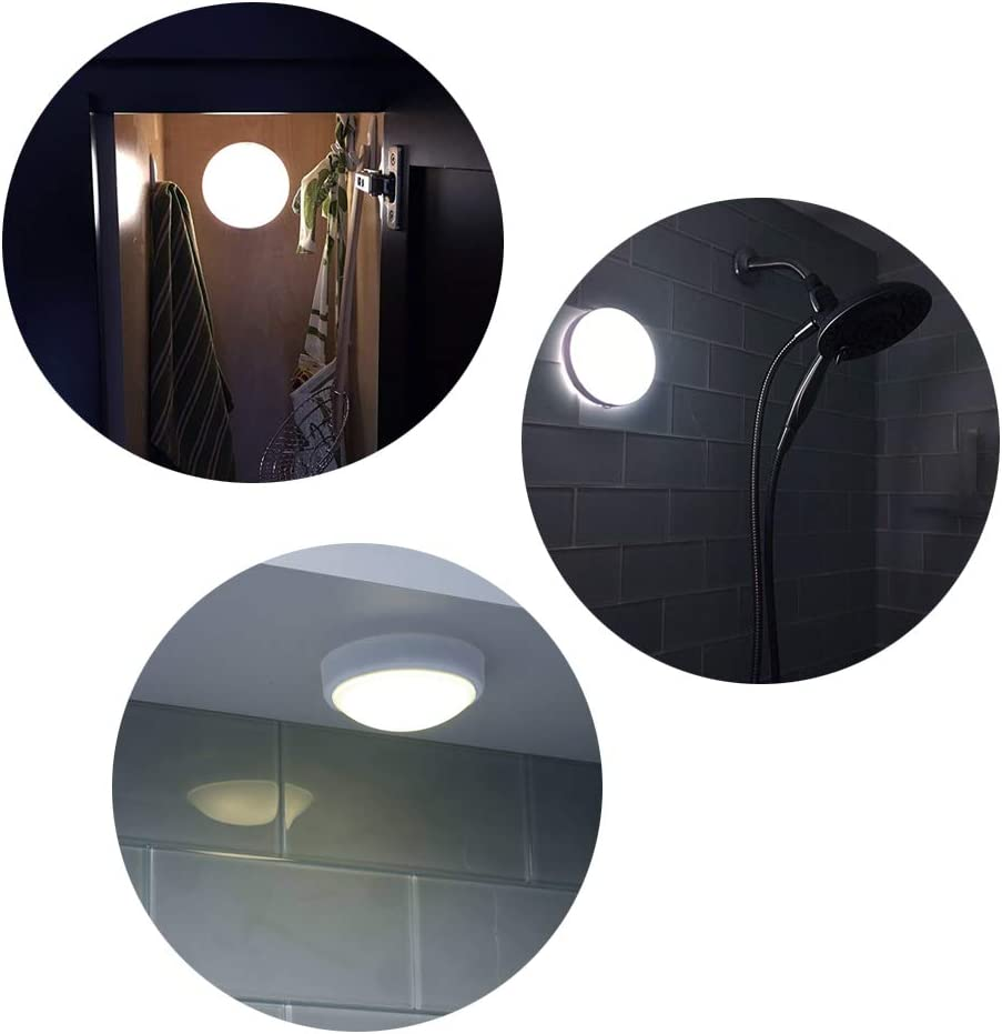 6 Pack LED Touch Night Lights Closet Counter Tap Lamps Battery Powered Emergency