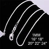 Vanessa 12 Pcs Italian 1mm Snake Chain Necklace