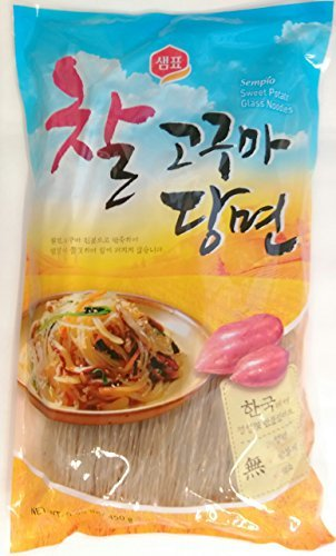 Sempio Glass Noodles, Korean Vermicelli, Dangmyun, Sweet Potato Starch (0.99 lbs/450g) ()