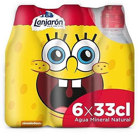 Lanjarón Agua Mineral Natural con Tapón Infantil - Pack 6 x 33 cl: Amazon.es: Alimentación y bebidas