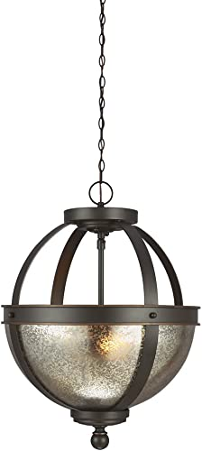Sea Gull Lighting 7710402-715 Sfera Two-Light Semi-Flush Convertible Pendant