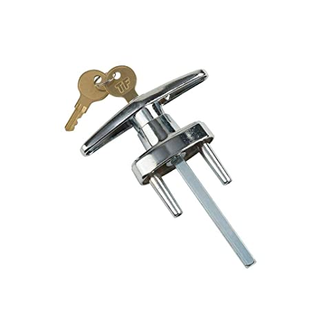 Amazon.com: Tirador en T para puerta de garaje con 2 llaves ...