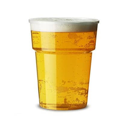 db7d5ca7615 1000 x 20oz Full Pint Flexi Clear Plastic Cups with CE Markings - Strong Disposable  Beer Glasses Tumblers  Amazon.co.uk  Kitchen   Home