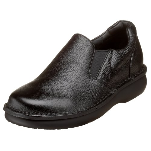 Propet Men's Galway Walker Slip-on,Black Grain,9 X (US Men's 9 EEE)