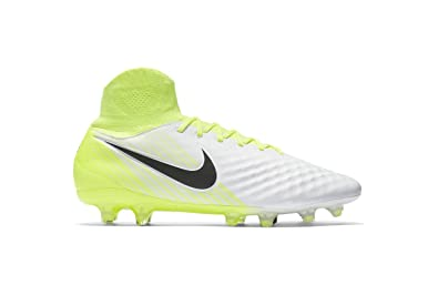 12a1eed985d Image Unavailable. Image not available for. Color  Nike Men s Magista Orden  Ii Fg White Black Volt Wolf Grey Soccer Shoes