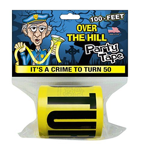[Over the Hill Party Tape - IT'S A CRIME TO TURN 50 - 100 Feet!] (Crime Scene Decorations)