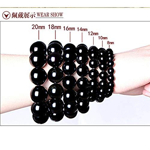 (CUTEDAY TANGYIN Wholesale Men and Women Beaded Bracelet Black Flash Natural Stone 6Mm/8Mm/10Mm Beads Bracelets for Men and Women Jewelry 16mm 14beads )
