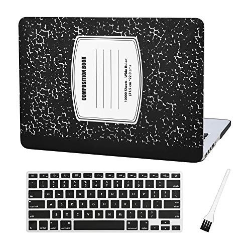 Plastic Macbook Silicon Notebook Pattern Black