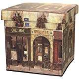 Oriental Furniture French Cafe Storage Ottoman
