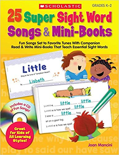 Amazoncom 25 Super Sight Word Songs Mini Books Fun Songs Set To