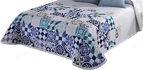 Textilia Bryan Colcha Piqué Cubrecamas, Azul, 180x270 cm