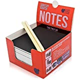 Red Metallic Scratch Off Mini Notes + 2 Stylus Pens Kit: 150 Sheets of Scratch Paper Perfect for kids & adults' notes & as office desk stationary - Cute Unique Gift Idea!