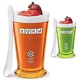 Zoku Slush and Shake Maker - 7 minute freeze (Set of 2 - Orange/Green - 8oz)