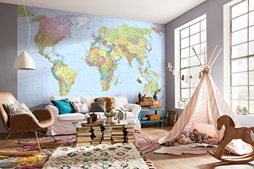 Cheap Wall Stickers & Murals komar xxl4 038 world map mural
