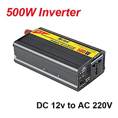 NAMEO 500W Inverter with Charger 12V DC to 220V AC Converter AC Adapter Power Supply Car Inverters