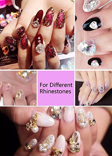 Nail Art 8ml Rhinestone Glue Gel Adhesive Resin Gem Jewelry Diamond Polish Clear Decoration With Pen Tools (UV Light Cure Needed) Thicker&More Sticky than Others By GADGETS ENTREPOT by GADGETS ENTREPOT (Image #2)
