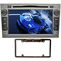 YINUO 7 inch Android 7.1.1 Quad Core 2 Din Car Stereo HD Touchscreen Car Radio Receiver DVD GPS Navigation for OPEL Vauxhall Astra Antara Corsa. Mic 8GB Map Card and Night Vision Camera