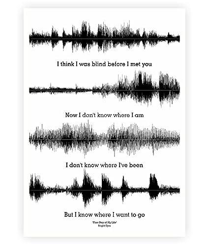 Amazoncom Lab No 4 First Day Of My Life Lyrics Typography Quotes