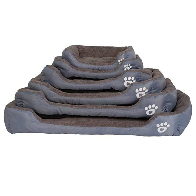 Amazon.com : MHGStore Pet Sofa Dog Beds Waterproof Bottom Soft Fleece Warm Cat Bed House Petshop Cama Perro (M, Orange) : Pet Supplies