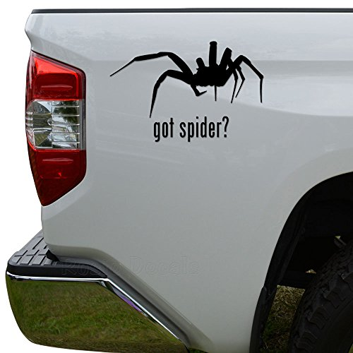 Got Spider Pet Animal Die Cut Vinyl Decal Sticker For Car Truck Motorcycle Window Bumper Wall Decor Size- [8 inch/20 cm] Wide Color- Gloss - Motorcycle Spider