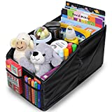 MiDU&Co Car Seat Organizer Front Backseat, Keep All Toys, Books, Pencils, Bottles, Games Organized, 9 Storage Compartments, Blue Stitching & Handles, Great Travel Accessory Kids & Adults