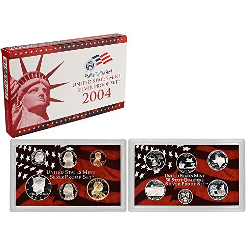 2004 S US Mint 11-coin Silver Proof Set DCAM