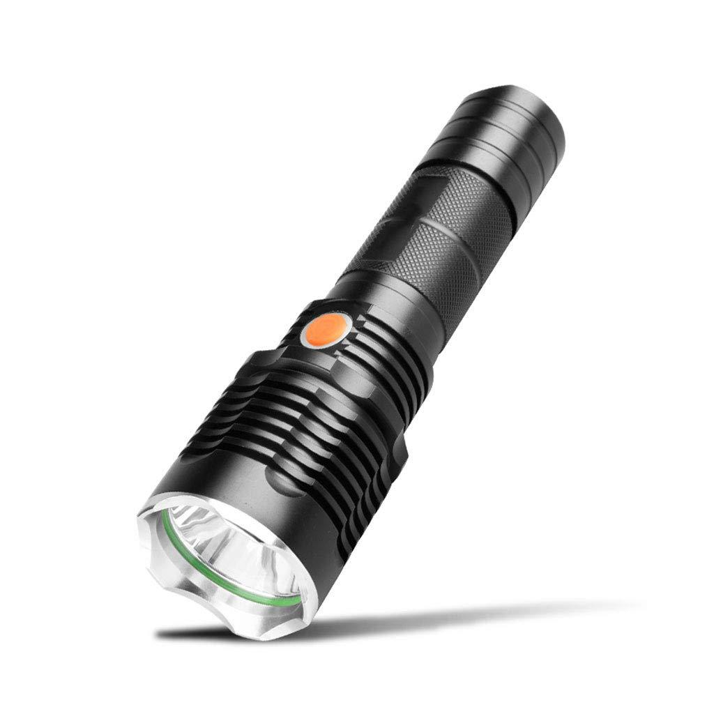 Haushalts-LED-Taschenlampe Aus Aluminiumlegierung, Geeignet Für Outdoor-Hundefischen Schwarz Multifunktions-Selbstverteidigung 500 Meter Lange Xenonlampe