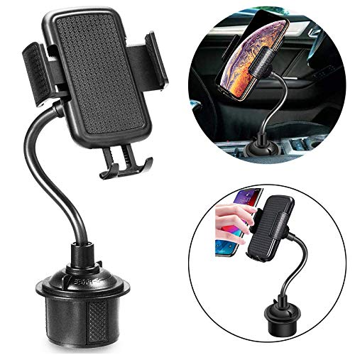 MiiFans Car Cup Holder Phone Cradles Mount Universal Adjustable Gooseneck Cup Holder Cradle Car Mount for Cell Phone iPhone Xs/XS Max/X/8/7 Plus/Galaxy