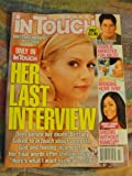 In Touch Weekly Magazine January 16 2010, Brittany Murphy cover (1977-2009): Her last intervew
