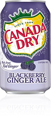 Canada Dry Ginger Ale Soda (Canada Dry Ginger Ale Blackberry Soda, 12 oz (48 Cans))