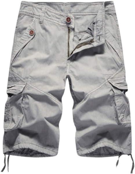 Pantalones Cortos Diseño Fresco Verano Cortos Hombre Carga Sólida Shorts Homme Algodón Suave Ropa De Moda: Amazon.es: Deportes y aire libre