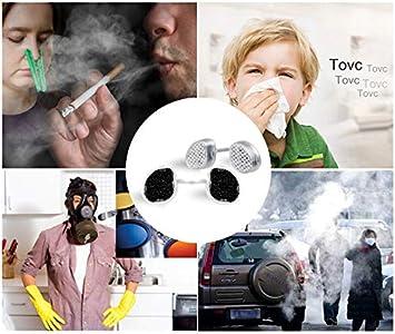 etc. PM2.5 Poils dAnimaux Domestiques Poussi/ères Germes WoodyKnows 3 en 1 Filtres nasaux de Protection Anti-Allergie Caus/ée par Pollen Fum/ée Secondaire