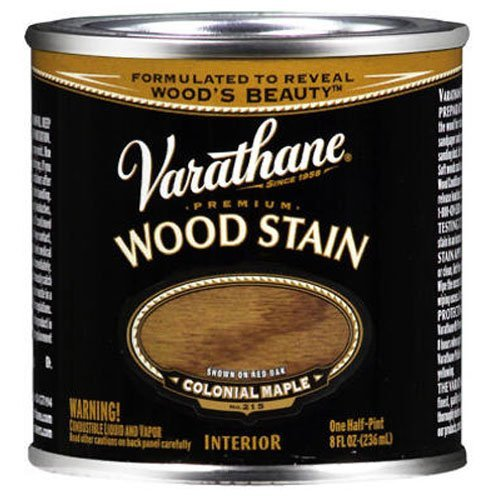 Maple Colonial Stain (Varathane 211759 Premium Wood Stain, Half Pint, Colonial Maple)