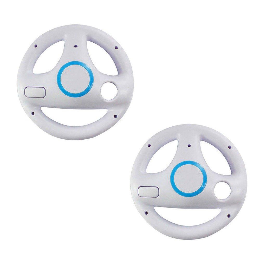 Generic White Mario Kart Steering Wheel for Nintendo Wii set of 2