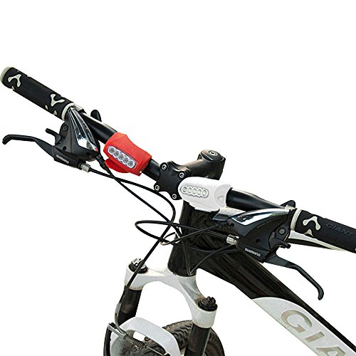 Maximum Safety LED Bike Headlight Taillight, Fits ALL Bikes! Try It Risk Free! Be Seen & Stay Safe On The Road, Super Bright, Front Or Back, Easy Install No Tools Needed! Water Resistant, Street/Kids/Mountain Bikes LIFETIME GUARANTEE Xtreme Bright