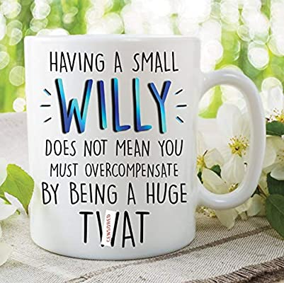 Taza divertida Willy Rude para novio, regalo para marido ...
