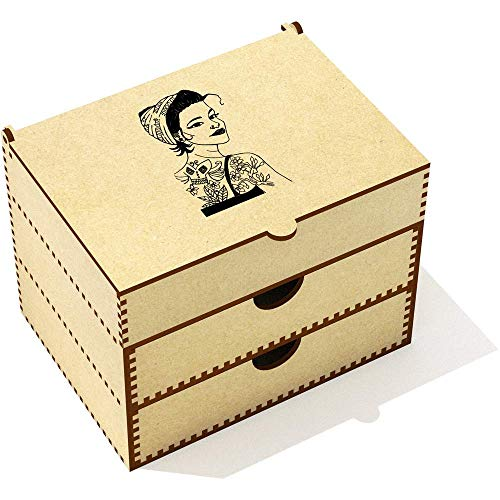 Azeeda '50s Style Girl' Vanity Case / Makeup Box (VC00004541) -