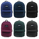 17'' Wholesale Backpack 6 Solid Colors - Case of 24